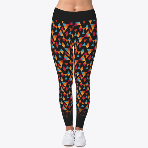 DIY Colorful Triangle Pattern Workout Leggings