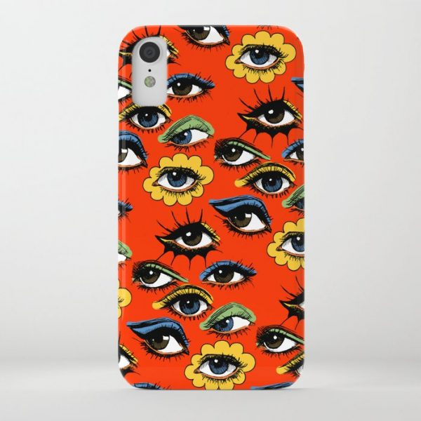 Custom 60s Eye Pattern iPhone Case