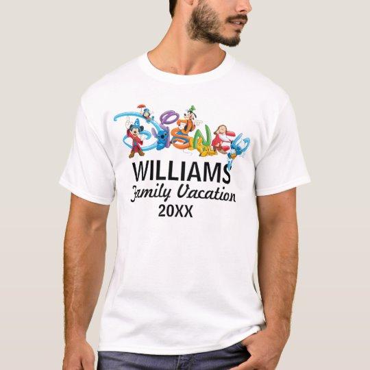 Custom Disney Logo Mickey and Friends Family Vacation T-Shirt