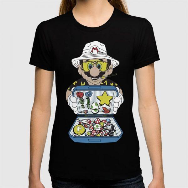 Custom Mario - Fear And Loathing In Las Vegas T-shirt