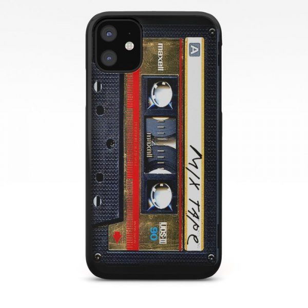 Custom Retro classic vintage gold mix cassette tape iPhone Case