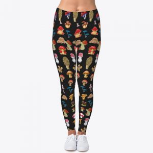 Custom Mashroom Leggings Workout Leggings