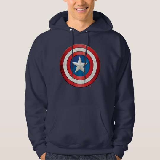 Custom Avengers Classics | Captain America Brushed Shield Hoodie