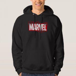 Custom Disintegrating Marvel Logo Hoodie