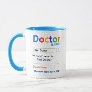 Custom Funny Custom Best Doctor Gift Mug