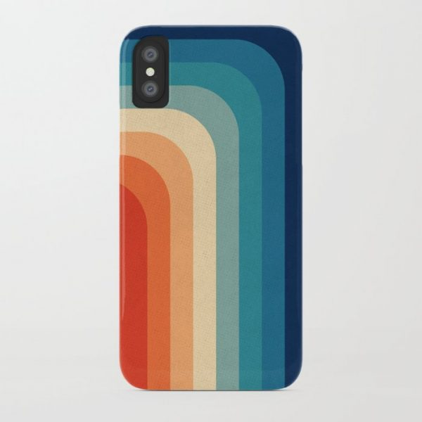Custom Retro 70s Color Palette III iPhone Case