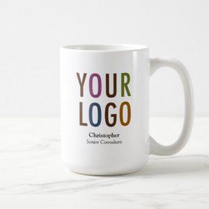 Custom Staff Employee Mug Custom Name Company Logo Brand